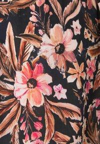LASCANA - BEACH DRESS - Day dress - schwarz/apricot - 5