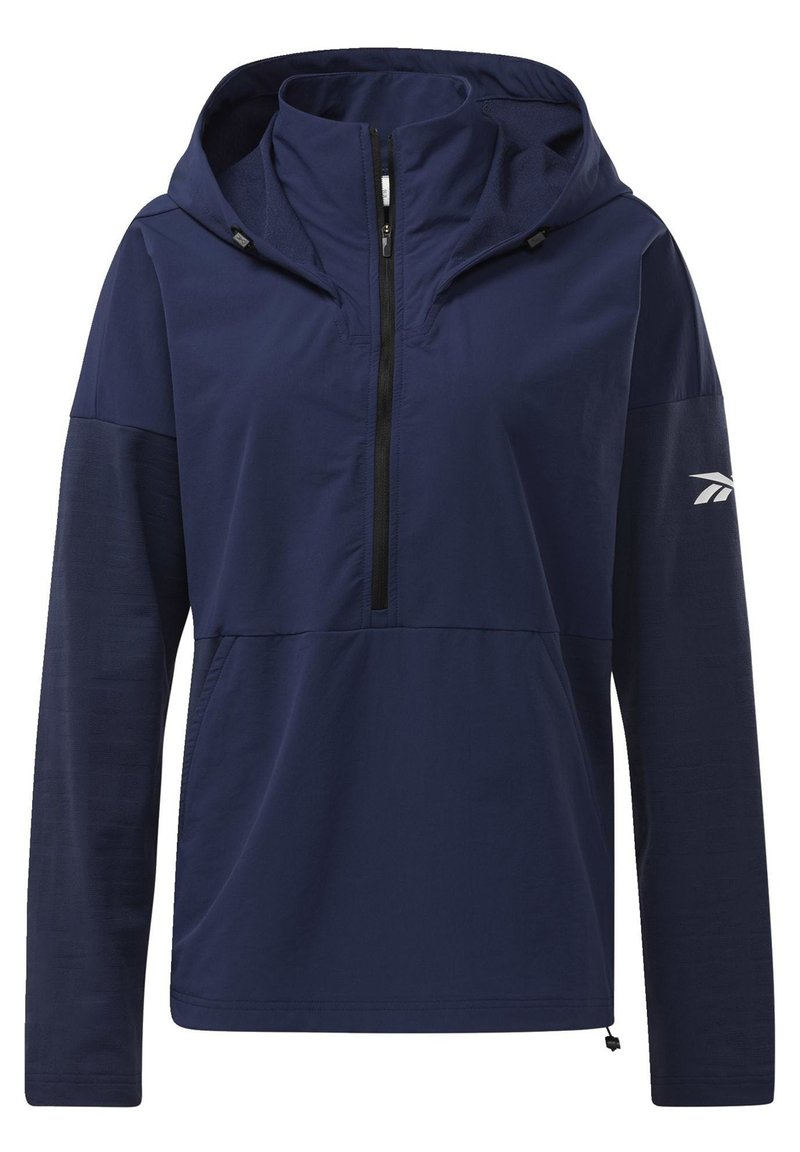 Reebok - UNITED BY FITNESS CONTROL HOODED JACKET - Cortaviento - blue