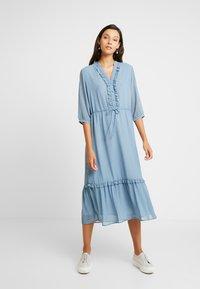 Moss Copenhagen - EVALINE 3/4 DRESS - Day dress - blue - 0