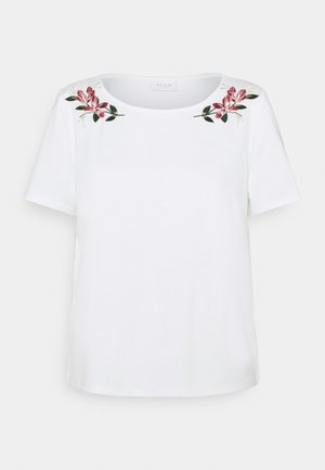 VITINNY EMBROIDERY - Print T-shirt - snow white