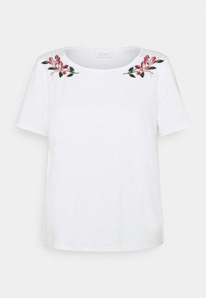 VITINNY EMBROIDERY - T-shirt imprimé - snow white