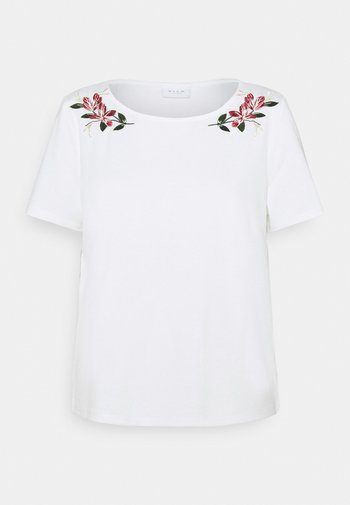 VITINNY EMBROIDERY - T-shirts med print - snow white