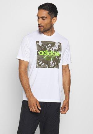CAMO - T-shirt con stampa - white