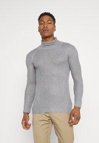 Brave Soul - GREENFORDA - Stickad tröja - silver grey marl - 0