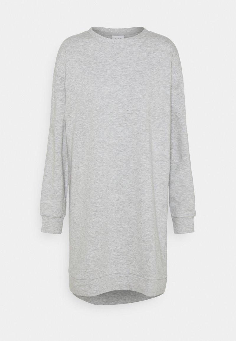 Vila - VIRUST O NECK DRESS - Day dress - light grey melange