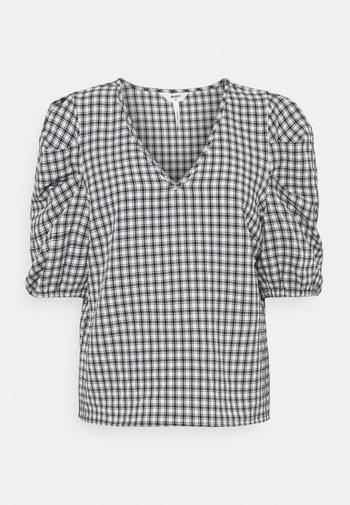 OBJTAMAR - Print T-shirt - black/bright white