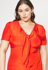 Glamorous Curve - TIE FRONT SHIFT DRESS - Korte jurk - red orange - 4