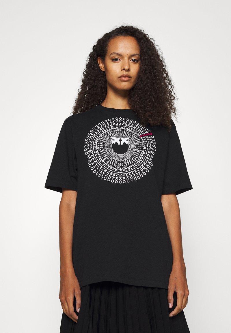 Pinko - ACQUALAGNA - T-shirt imprimé - black
