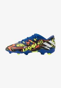 adidas Performance - NEMEZIZ MESSI 19.3 FG - Moulded stud football boots - royal blue/silver metallic/solar yellow - 1