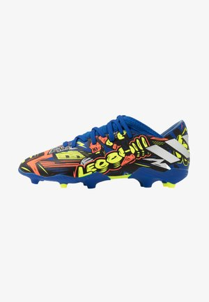 NEMEZIZ MESSI 19.3 FG - Chaussures de foot à crampons - royal blue/silver metallic/solar yellow