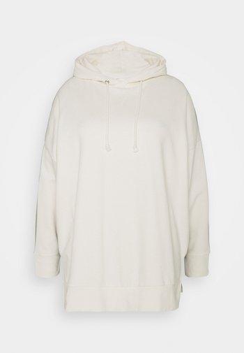 COLOUR BLOCK HOODIE - Sweatshirt - cream/khaki