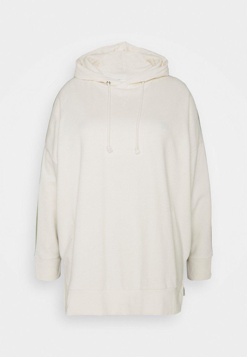 Simply Be - COLOUR BLOCK HOODIE - Sweatshirt - cream/khaki