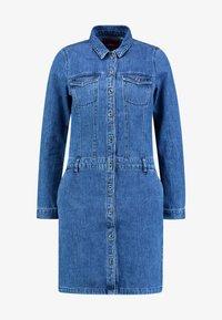 s.Oliver - KURZ - Denim dress - blue denim - 4
