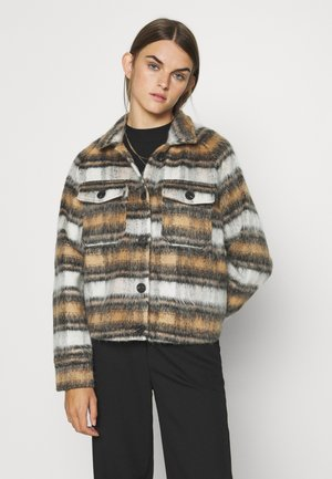 ONLTRAY CHECK JACKET  - Lett jakke - black/brown
