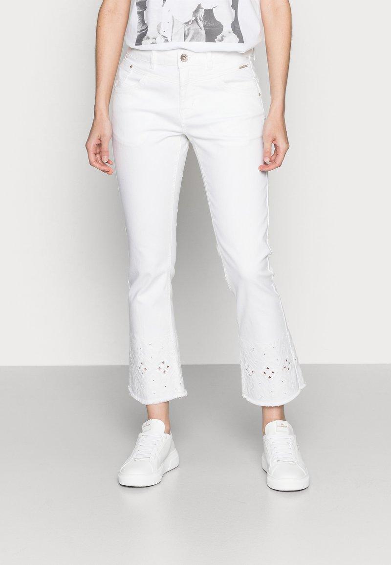 Cream - Bootcut jeans - snow white