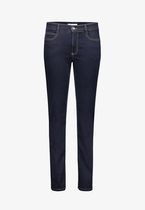 ANGELA  - Slim fit jeans - dark-blue denim
