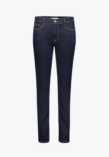 ANGELA  - Slim fit jeans - dark-blue denim