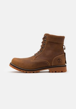 RUGGED 6 IN PLAIN TOE WP - Lace-up ankle boots - rust