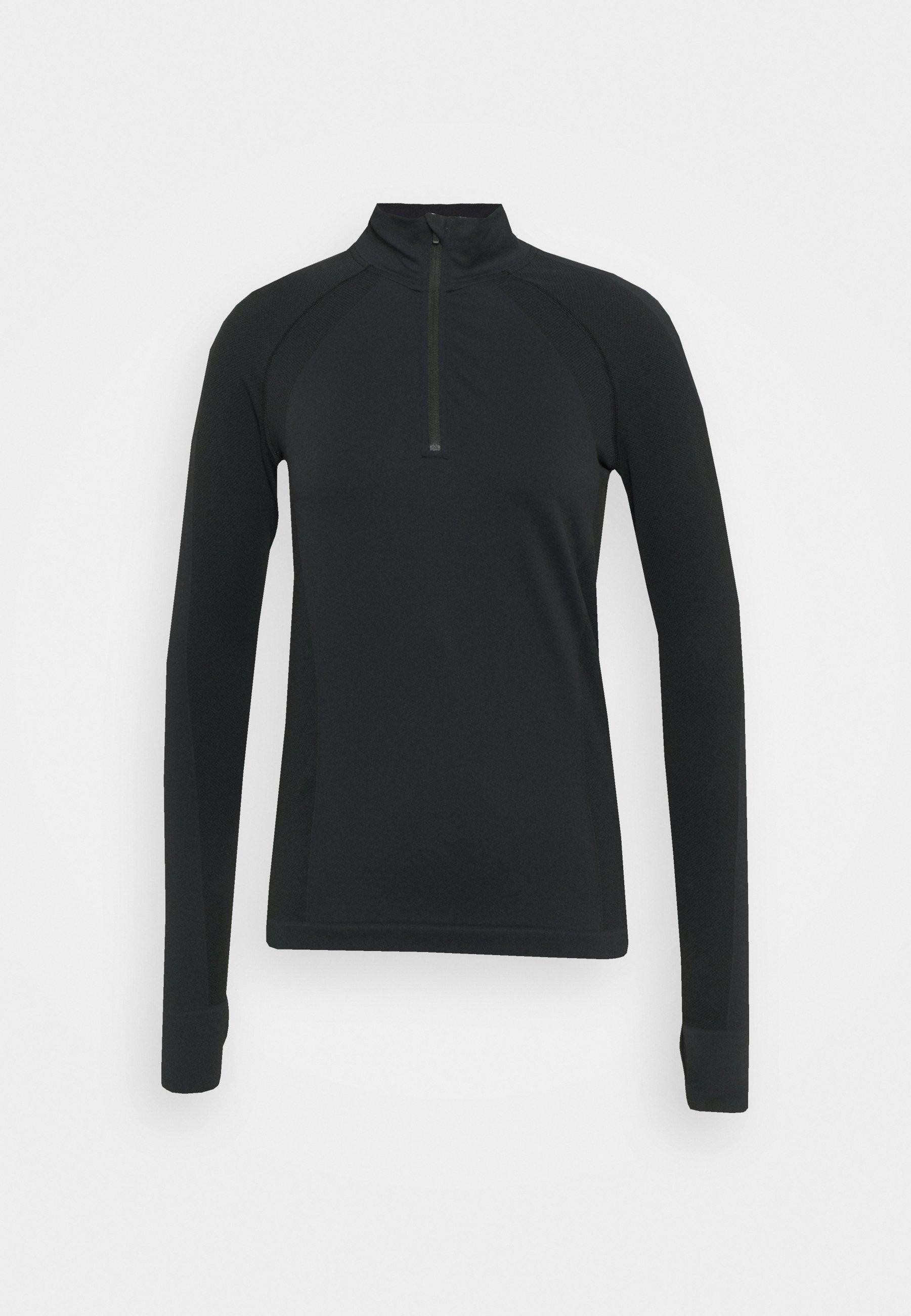 Women ATHLETE SEAMLESS HALF ZIP LONG SLEEVE  - Long sleeved top