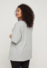 Zizzi - Print T-shirt - light grey melange - 2