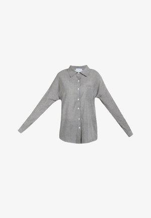 HEMDBLUSE - Overhemdblouse - schwarz gestreift