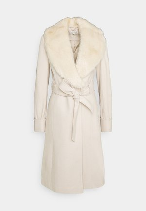 BELT COAT - Mantel - cream