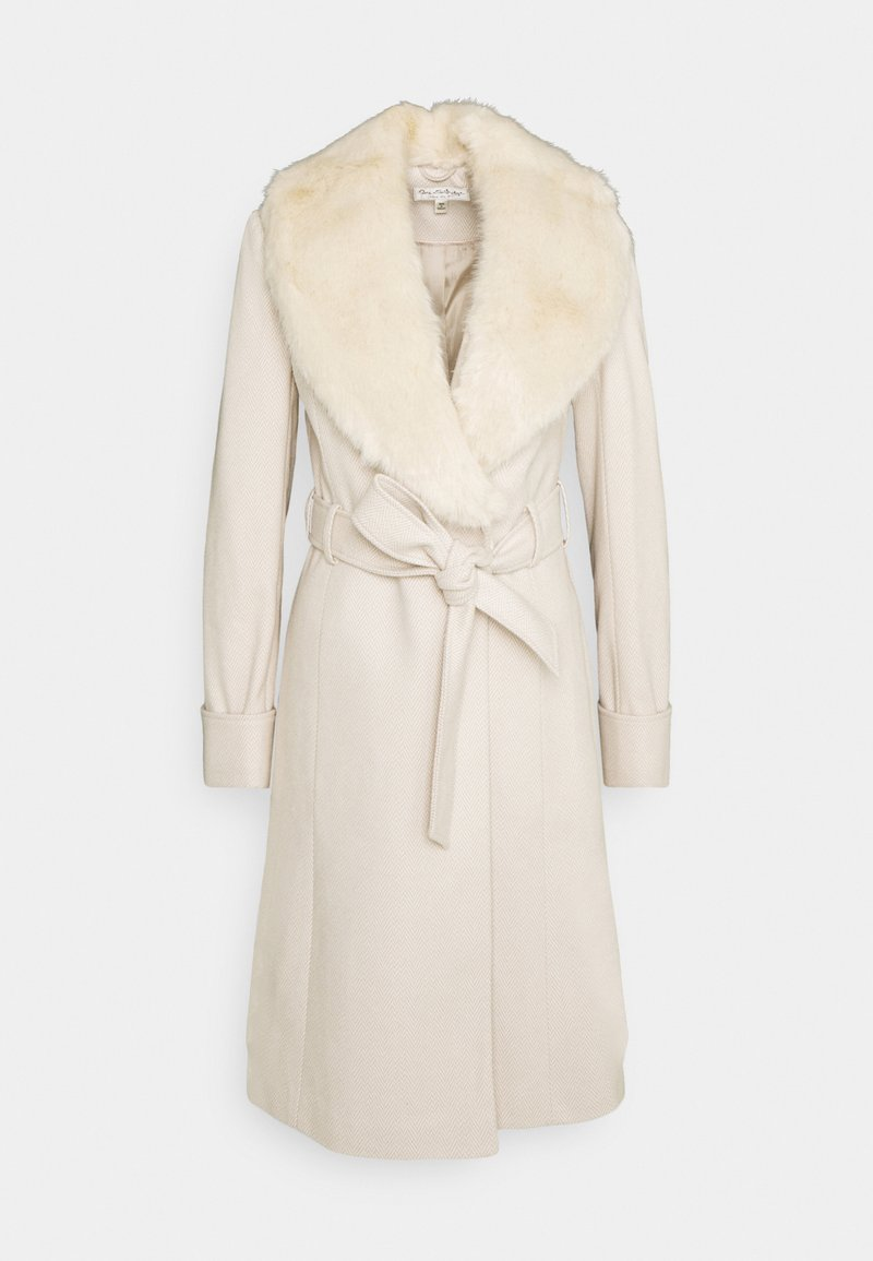 Miss Selfridge - BELT COAT - Kåpe / frakk - cream