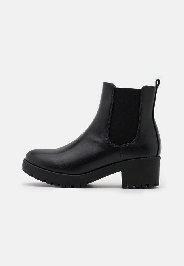 WIDE FIT KENNEDY GUSSET BOOT - Stivaletti con plateau - black