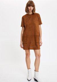 DeFacto - Day dress - brown - 1