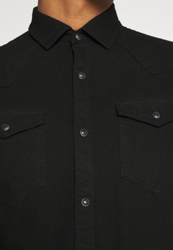 Scotch & Soda CLASSIC WESTERN IN SEASONAL WASHES - Koszula - black denim/czarny denim Odzież Męska PNYY
