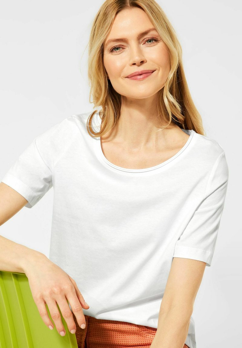 Cecil - Basic T-shirt - weiß