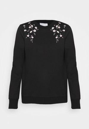 VILUKI EMBROIDERY - Sweatshirt - black