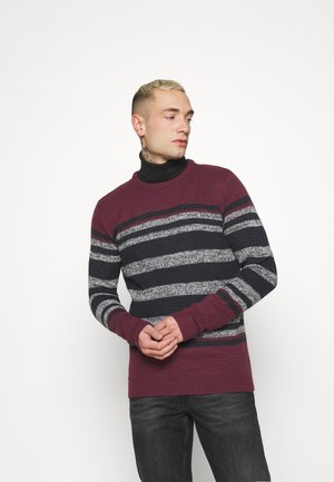 Jumper - deep maroon/ vintage white/ french navy