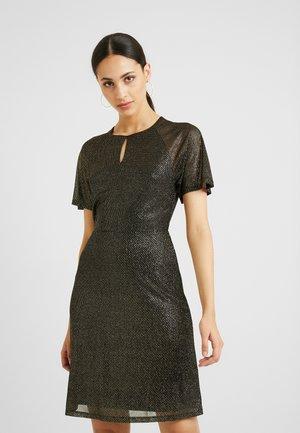 KEYHOLE FIT AND FLARE - Vestito elegante - bronze