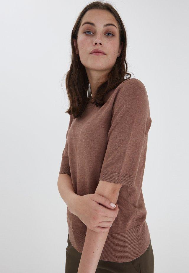 SARA - Sweter - brownie melange