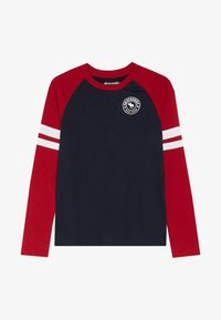 Abercrombie & Fitch - FOOTBALL TEE - Long sleeved top - navy/red - 2