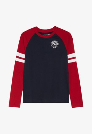 FOOTBALL TEE - Long sleeved top - navy/red