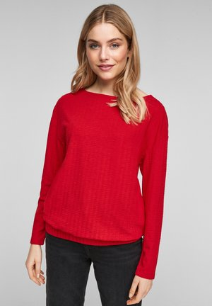MIT STRUKTURMUSTER - Jumper - red