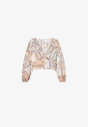 HÄKEL - Bluzka z długim rękawem - stone