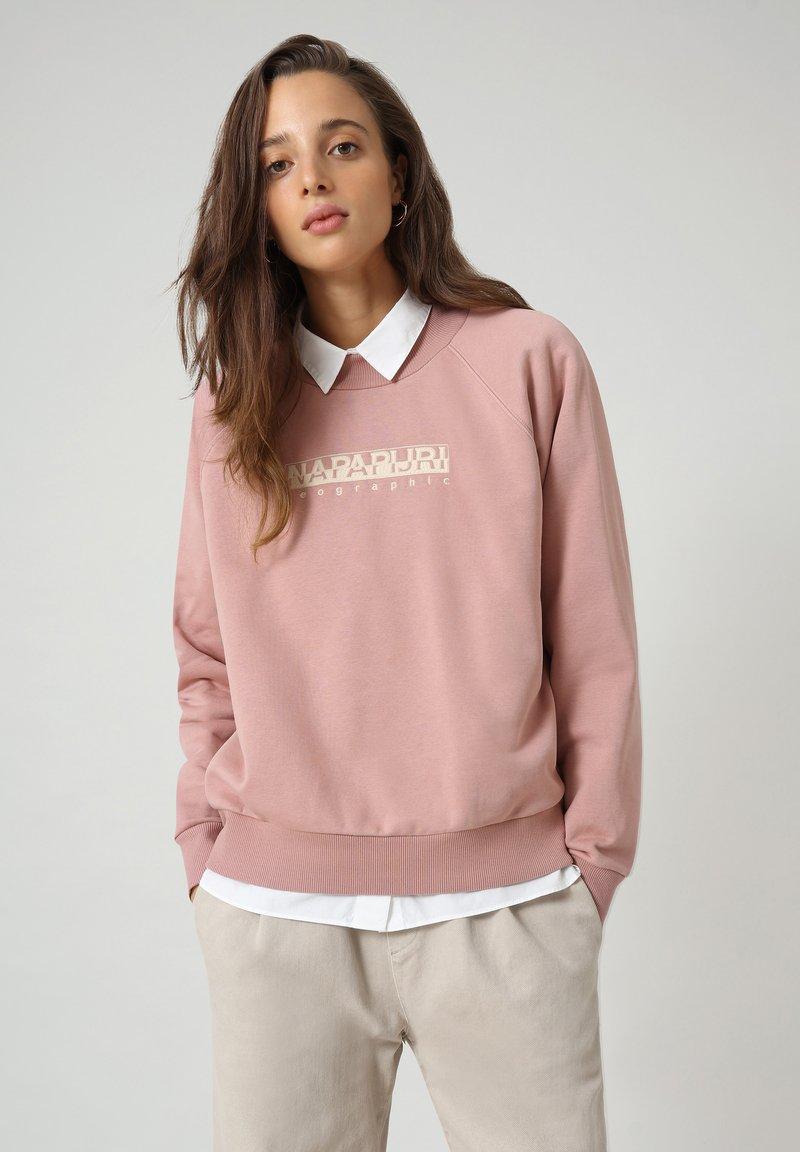 Napapijri - BEBEL CREW - Sweatshirt - pink woodrose