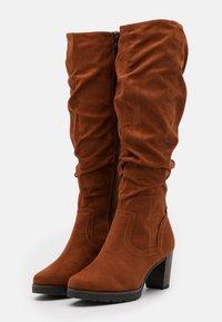 Tamaris - BOOTS  - Platform boots - brandy - 2