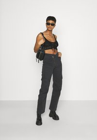 Missguided - LACE UP BRALET - Top - black - 1