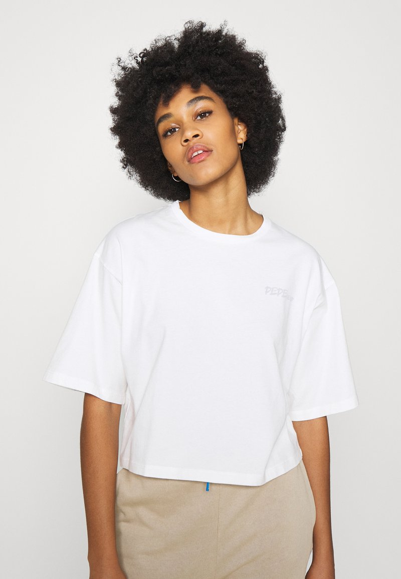 Pepe Jeans - APRIL - Print T-shirt - oyster