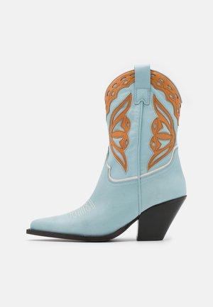 Cowboy/Biker boots - cathay celeste camel/talco