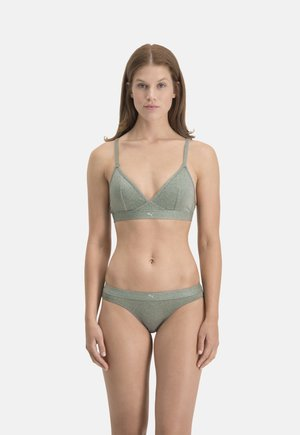 SPARKLING 1P - Push-up bra - dark green combo