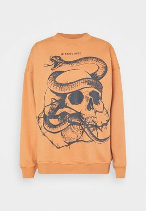 DEEP TIE DYE SNAKE - Sweatshirt - orange