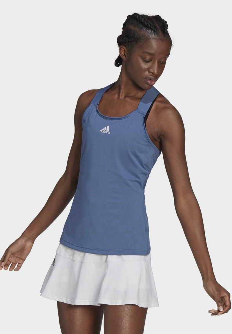 adidas Performance - TENNIS Y-TANKTOP - Topper - blue