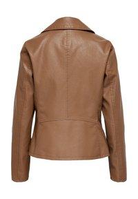 ONLY - ONLMELISA BIKER - Faux leather jacket - cognac - 1