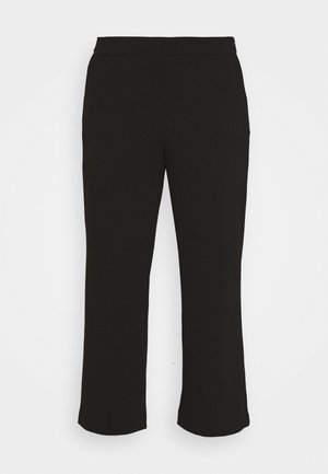 VIMARY STRAIGHT PANTS - Trousers - black
