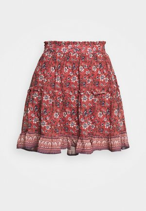 VMBELLA FRILL SKIRT  - Mini skirt - marsala